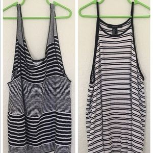 Two striped tank tops